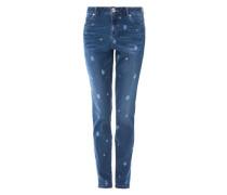 Boyfriend: Jeans mit Sternchen blau