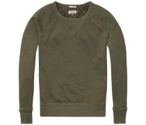Sweatshirt 'thdw CN Hknit L/S 22' oliv