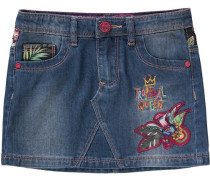 Kinder Jeansrock mit Patches blau