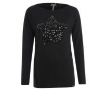 Shirt mit Pailletten-Stern 'Jasmin' schwarz