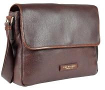 Plume Mix Uomo Messenger Tasche Leder 37 cm braun