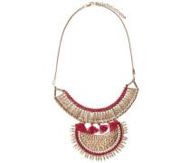 Modische Halskette gold / rot