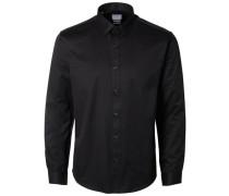 Slim-Fit-Businesshemd schwarz
