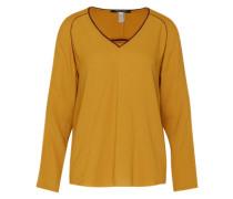 V-Neck Bluse gelb