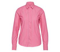Bluse mit Hemdkragen 'smart Stripe' pink