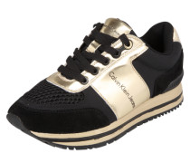 Sneaker 'Tanya' gold / schwarz