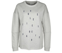 Sweatshirt MIT Statement grau