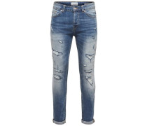 'Loom light blue' Slim Fit Jeans blue denim