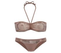 Bandeau-Bikini camel