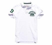 Poloshirt »Super State S/S Pique Polo« dunkelgrün / weiß