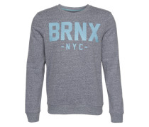 Sweatshirt 'wording Snow ME' blau