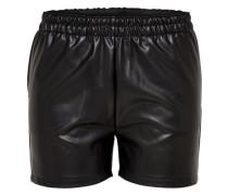 Lederimitat-Shorts schwarz