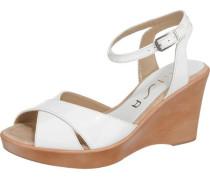 Sandaletten 'Rama' braun / weiß