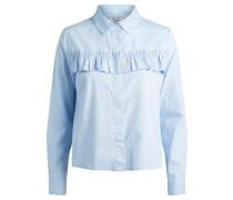 Rüschen-Hemd hellblau
