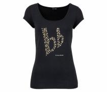 T-Shirt »Rundhaltsshirt mit Perlenlogo«