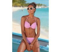 Push-up-Bikini pink / weiß
