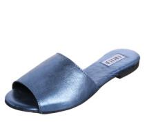 Pantolette 'Jette' silbergrau / blau