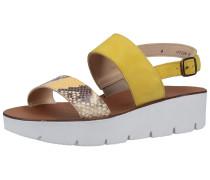 Sandalen gelb / braun