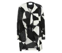 Cardigan 'Fanja' grau / schwarz / weiß