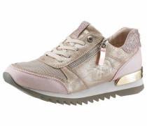 Sneaker gold / altrosa