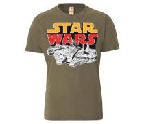 "T-Shirt ""Millenium Falcon"" braun"