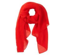 Schal mit Plissees rot