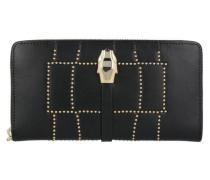 Class Croco Lux Geldbörse Leder 195 cm gold / schwarz