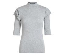 Rollkragen-Bluse graumeliert