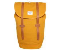 Unisex-Rucksack mit Lederdetails 'Stig' gelb