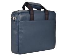 Rotterdam 3 Aktentasche Leder 40 cm Laptopfach blau