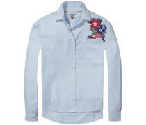 Hilfiger Denim Bluse 'thdw Multi Stripe Shirt L/S 41' hellblau / rot