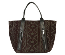 Shopper mit Jacquard-Muster graphit