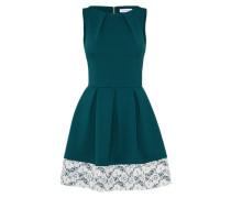 Elegantes Kleid 'd2747' tanne / weiß