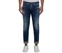 Jeans 'anbass Coin Zip' blue denim