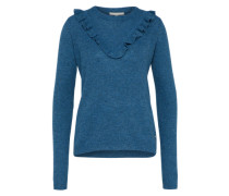 Pullover 'structured ruffle sweater' marine