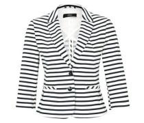 Taillierter Satin-Blazer schwarz / weiß