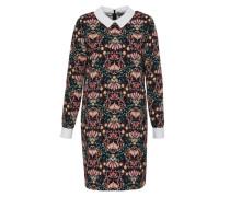 Print-Kleid mit Hemdkragen mischfarben