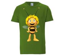 T-Shirt 'Biene Maja 3D' gelb / grün