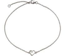 Fußkette »Herz« mit Zirkonia silber