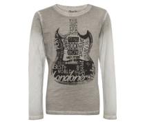 Shirt 'julian JR' dunkelbraun / hellgrau