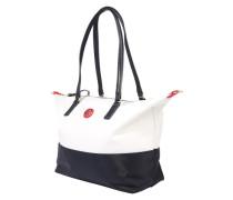 Shopper 'poppy' navy / rot / weiß