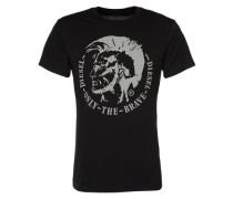 T-Shirt mit Logo-Appliaktion 'Diego' schwarz