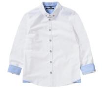 Langarmhemd mit Botton-Down-Kragen weiß