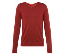 Pullover mit V-Ausschnitt 'San Carlo' rot