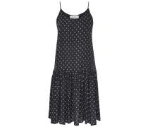 Detailreiches Kleid ohne Ärmel schwarz / weiß
