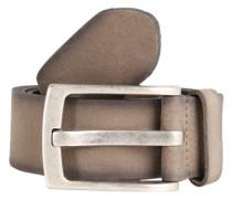 Ledergürtel in Vintage-Optik taupe