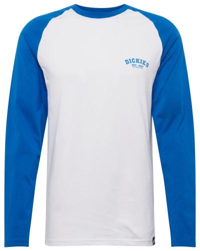 Shirt 'Baseball' royalblau / weiß