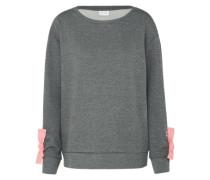 Sweatshirt 'Senta' graumeliert / rosa