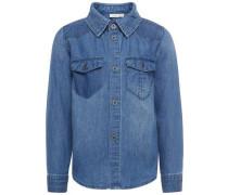 Langarm-Jeanshemd blau