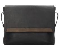 Camden Messenger Tasche Leder 40 cm braun / dunkelbraun